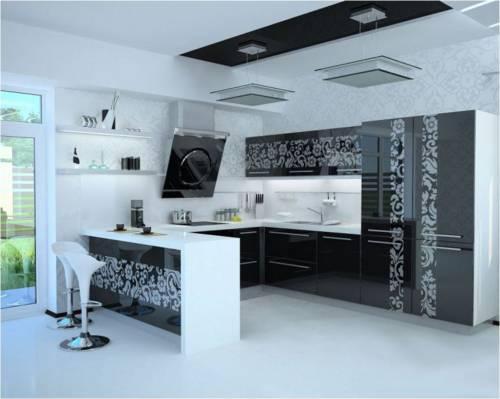 Кухня гостинная дизайн кухня